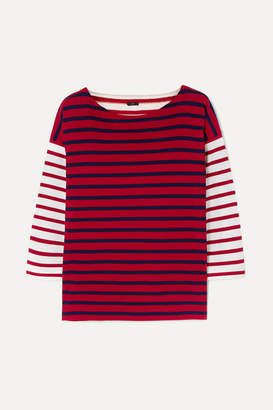 J.Crew Striped Cotton Top - Red