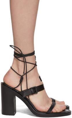 Ann Demeulemeester Black Block Heel Sandals
