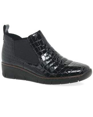 Rieker Eria Womens Wedge Chelsea Boots