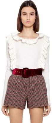 Blugirl Ruffle Wool Knit Sweater