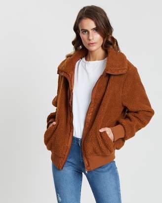 Cotton On Teddy Zip-Through Bomber Jacket
