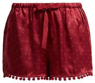 Figue Maja polka-dot silk shorts