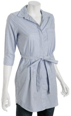 Steven Alan blue striped cotton 'Christine' belted tunic