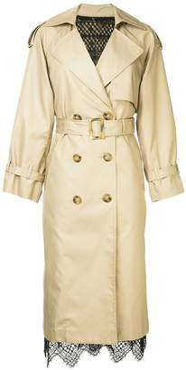 Le Ciel Bleu double breasted trenchcoat