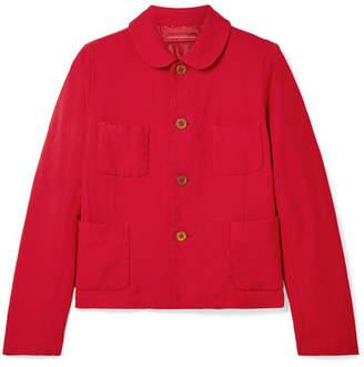 Comme des Garcons Twill Jacket - Crimson