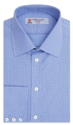 Turnbull & Asser Prince of Wales Plaid Classic Fit Dress Shirt