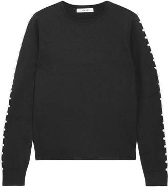 ADEAM Cutout Button-embellished Silk Sweater