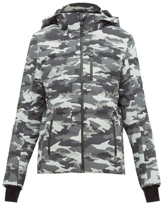 Aztech Mountain Nuke Quilted Camouflage Print Ski Jacket - Womens - Black Multi