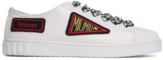 Miu Miu Patches Low-top Leather Sneakers
