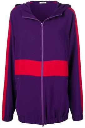 P.A.R.O.S.H. stripe detail hooded coat