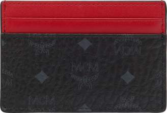 MCM Stark Stripe Card Case In Visetos