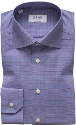 Eton Men's Windowpane Contemporary Fit Dress Shirt