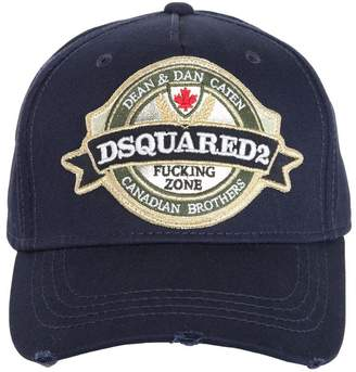 DSQUARED2 Logo Patch Cotton Baseball Hat