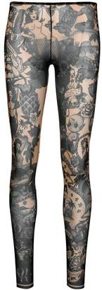 DSQUARED2 tropicana print footless tights