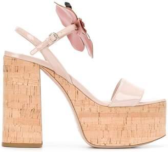 Miu Miu floral embellished platform sandals