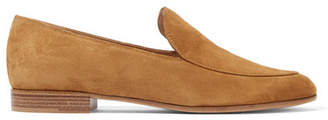 Gianvito Rossi Suede Loafers - Tan