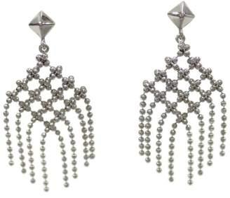 Tiffany & Co. 18K White Gold Fringe Post Earrings