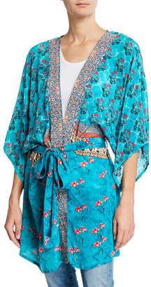 Tolani Mona Tie-Front Kimono Jacket, Plus Size