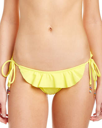 Shoshanna Lemon Ruffle String Bottom