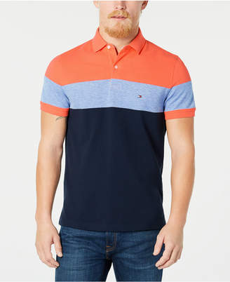 c67e42f0 Tommy Hilfiger Dylan Men Custom Fit Striped Polo