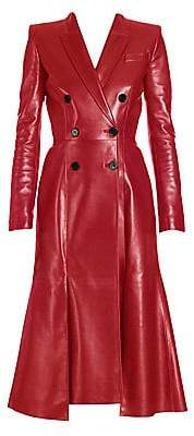 Alexander McQueen Women's Double-Breasted Leather Coat