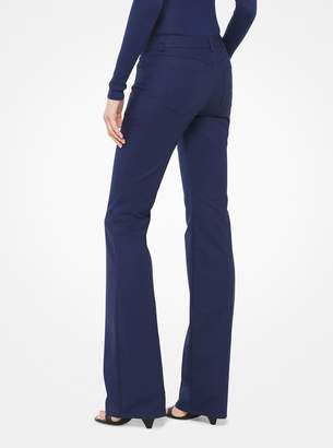 Michael Kors Stretch-Cotton Broadcloth Flared Jeans