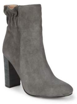 Scrunch Back Suede Booties