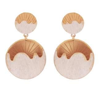 Carousel Jewels - Abstract Half Moon Earrings