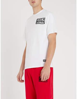Lifes A Beach Graphic-back cotton-jersey T-shirt