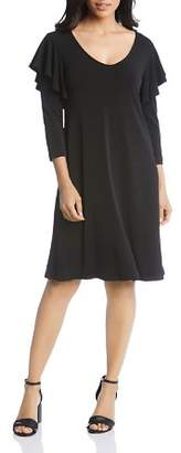 Karen Kane Flutter-Sleeve Dress