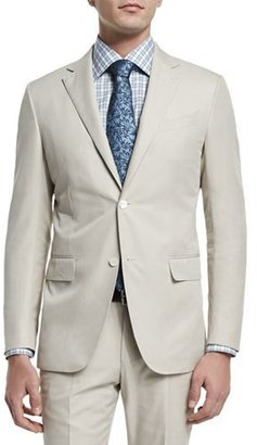 Ermenegildo Zegna Two-Piece Cotton Suit, Beige $2,795 thestylecure.com