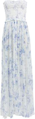 Rococo Sand Iris Blue Floral Cover-Up Dress