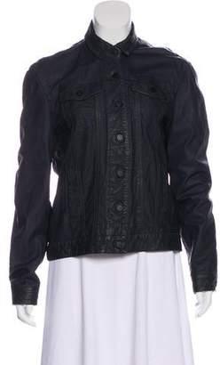 ATM Anthony Thomas Melillo Distressed Leather Jacket