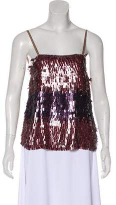 Alice + Olivia Embellished Sleeveless Top