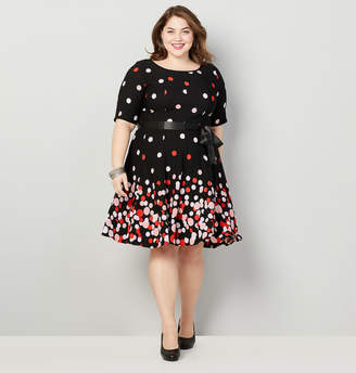 Avenue Floating Dot Fit and Flare Dress