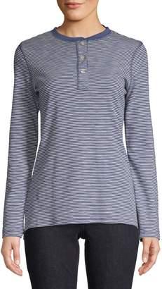 Chaps Striped Cotton Top