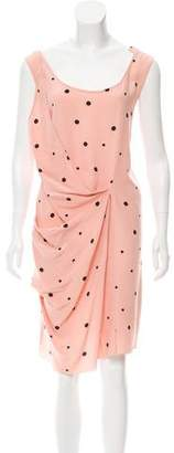 Marni Polka Dot Print Silk Dress