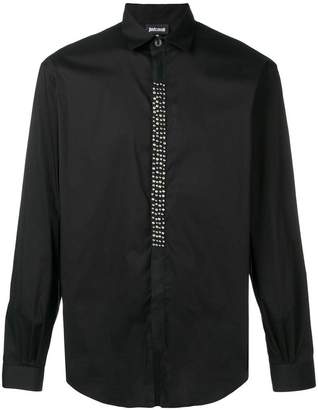 Just Cavalli studded fitted shirt