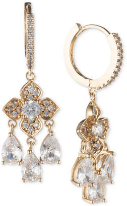 Jenny Packham Crystal Hoop & Flower Drop Earrings