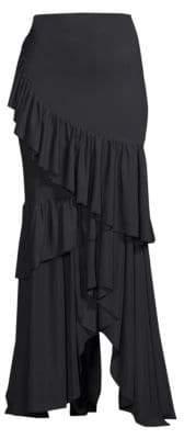 Chiara Boni Leonarda Tiered Ruffle Maxi Dress