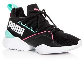 Puma Women's Muse Maia Street Knit Lace Up Sneakers