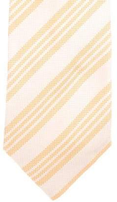 Fendi Checked Jacquard Striped Silk Tie w/ Tags