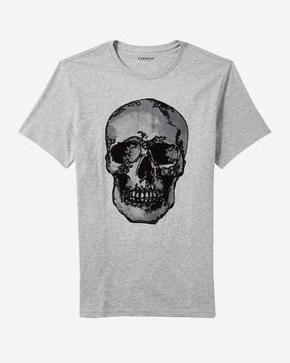 Express Skull Textured Graphic Tee