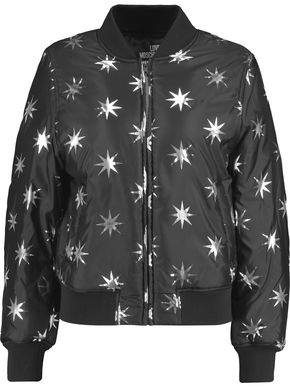 Metallic Printed Shell Bomber Jacket