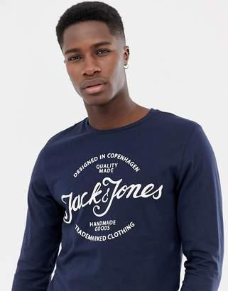 Jack and Jones Print Long Sleeve T-Shirt