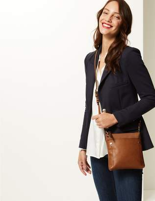 Marks and Spencer Faux Leather Front Pocket Cross Body Bag