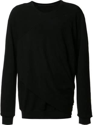 Julius draped detail sweatshirt