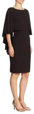 St. John Sequin Cape Dress