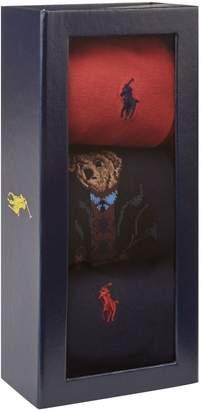 Ralph Lauren Logo Embroidered Socks (Pack of 3)