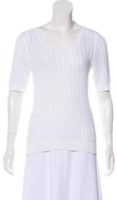 Lauren Ralph Lauren Linen-Blend Open Knit Top